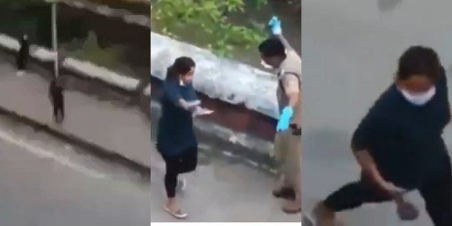 Watch As Indian Police Officers Lashes Slay Queens On The Street For Taking Selfie During Lockdown - Video 1