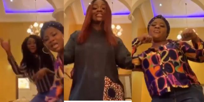 Watch how Jackie Appiah kills her boredom after going on self Isolation due to coronavirus. (video) 1