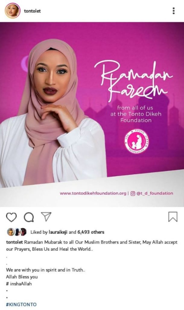 """My current boyfriend is a Muslim""- Tonto Dikeh 2"