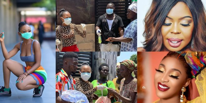 Tonto Dikeh And Afia Schwarzenegger Helps Akuapem Poloo To Donate To The People Of Kasoa - Videos+Photos 1