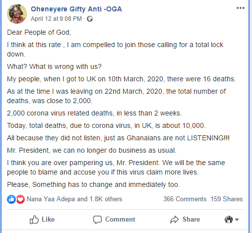 Gifty Anti's post