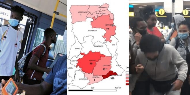 8 Regions in Ghana now has been affected by coronavirus; Please take care. 1