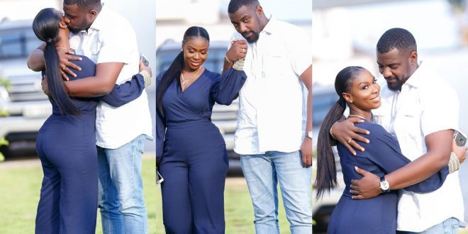 John Dumelo's wife flaunts Their Huge mansion with a swimming pool to fans. (video) 1
