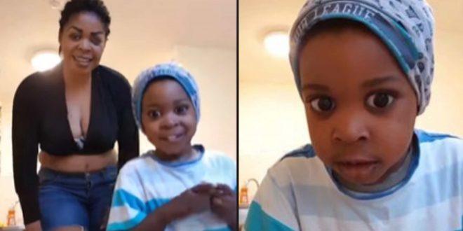 Former AIDS Ambassador Joyce Dzidzor Flaunt Her Hundsom Son In New Video - Watch 1