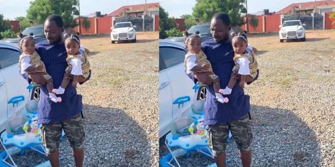 Watch These Adorable Videos Of Funny Face's Twins, Ella & Bella As They Walks And Dance - Videos 1