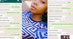 """Cheat On Me Or We Breakup"" - Lady Tells Boyfriend (Screenshots Of Chats) 12"