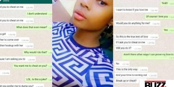 """Cheat On Me Or We Breakup"" - Lady Tells Boyfriend (Screenshots Of Chats) 1"