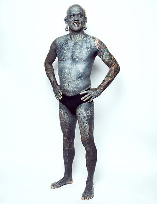 world most tattooed man