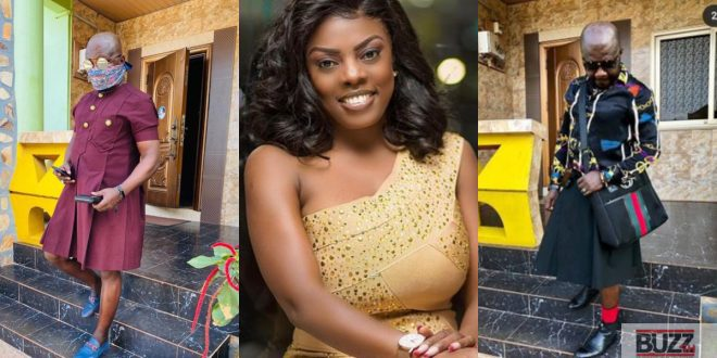 Nana Aba Anamoah Trolled on social media for her baby daddy wore a skirt (photos) 1