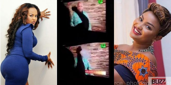 Nana Ama Mcbrown reacts to viral video of her Knocking former president Mahama on TV (video) 1