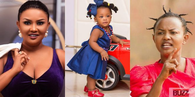 Watch How Nana Ama McBrown Entertains Baby Maxin With A 'Box Car' - Video 1