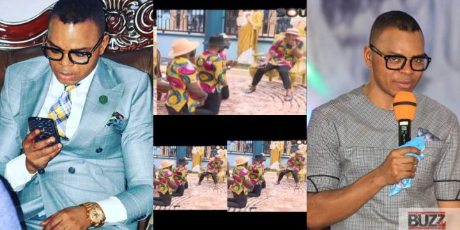 Obinim's Junior Pastors Kneels And Begs Him To Not Respond Kennedy Agyapong On Live TV - Video 1