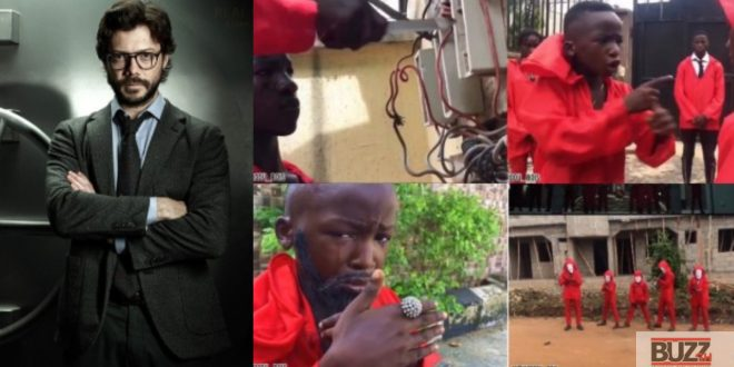 Money Heist Professor congratulate Nigerian kids for replicating the movie in a short skit (video) 1