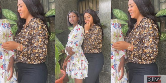 More Photos Of Regina Daniels In Her Baby Bump Surfaces - Check Out 1