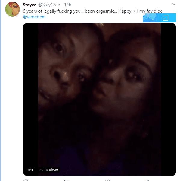 stacey's tweet to edem