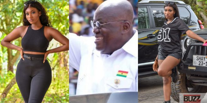Wendy shay in trouble after she said she did not listen to Nana Addo's speech because she was counting money. 1