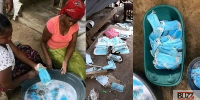 Two Women Spotted Washing Face Masks To Resell - Photos 1