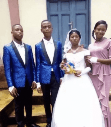 15 years old boy weds 22 years old lady (photos) 3
