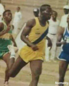 picture of Bernard Nyarko as an Athlete in Tweneboah Kodua Senior High Pops up. (photo) 2