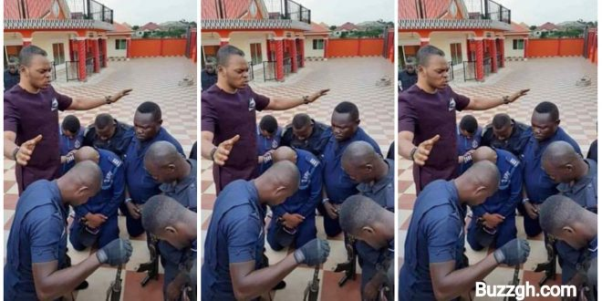 Picture of Angel Obinim praying for police officers surfaces online (photo) 1