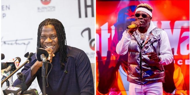 Rivals unite: Stonebwoy and Shatta Wale having fun together at 4syte mansion - video 1