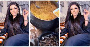 Bobrisky Cooks For Muslims: Shares Nigeria Jollof To Break The Fast - Video 31