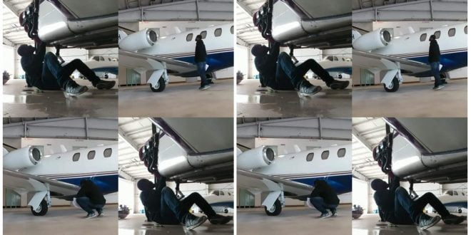 Evangelist Addai shares photos of an Airplane he's building 1