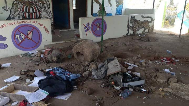 Police recover 4 dead bodies buried in a powerful shrine for rituals in Adeiso Ghana. 2
