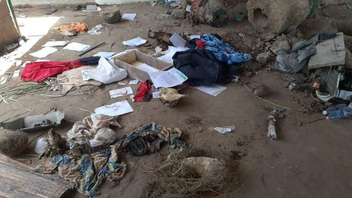 Police recover 4 dead bodies buried in a powerful shrine for rituals in Adeiso Ghana. 3