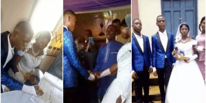15 years old boy weds 22 years old lady (photos) 1