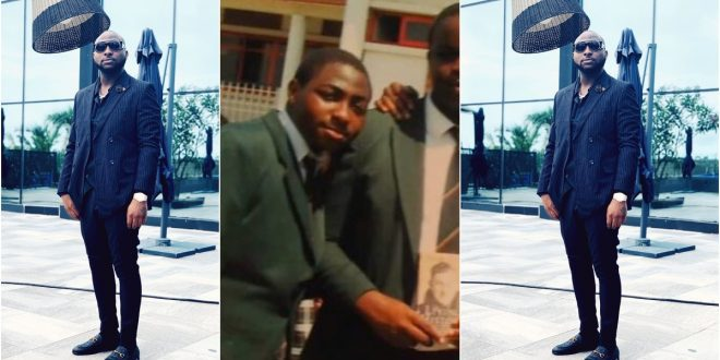 Throwback picture of Davido in high school causes stir online. (photo) 1