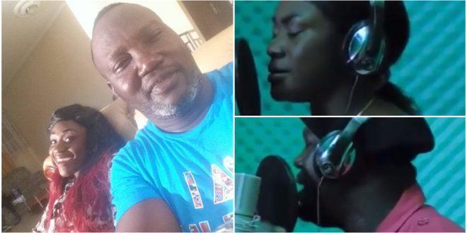 Emelia Brobbey Drops A Never Seen Video Of Herself & Bernard Nyarko In The Studio Recording A Song - Watch 1