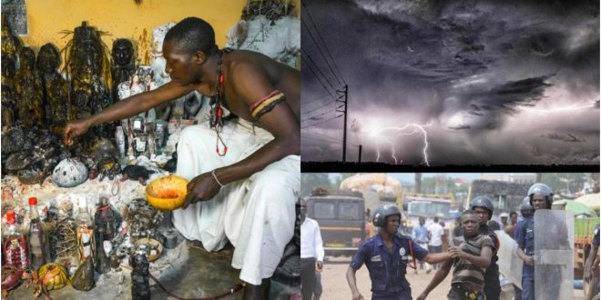 2 fetish priest arrested in Penyi in the Volta Region for stopping rain from falling 1