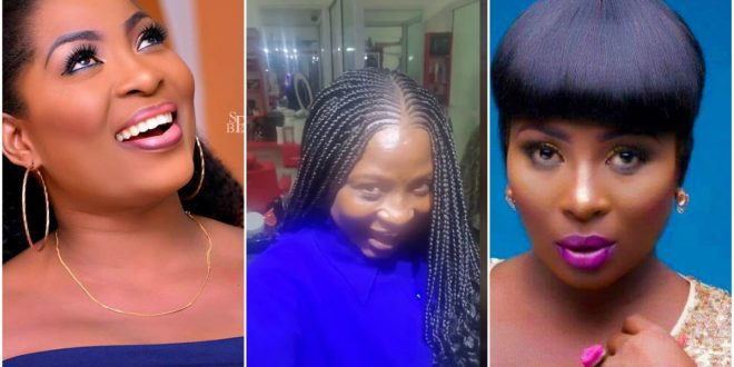 Check out shocking no makeup real  face of Gloria Sarfo 1
