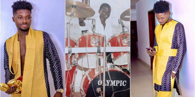 Kuami Eugene shares throwback photo playing drums at church 1