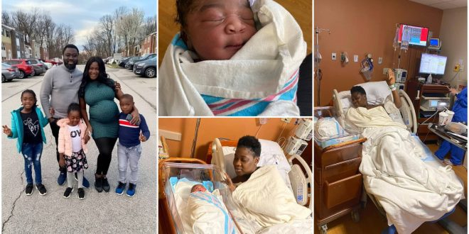 """""""We Had A Baby Girl"""" - Mercy Johson's Husband Confirms As He Reveals The Name Of Their Newborn Baby 1"""