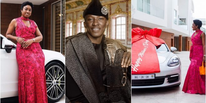 Check out Ghana's millionaire, Cheddar gifts to his wife on her birthday - video 1