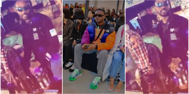 Pappy Kojo grabs and smooches the waist and backside of a lady - video 1