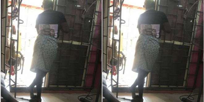 Pregnant Lady Runs To A hair Studio After Husband Tried To Beat Her For Not Cooking Early - Photos+ Screenshots 1