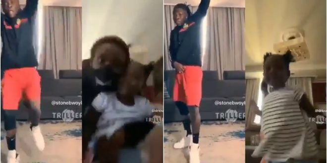 Family Goals: Stonebwoy, Wife, And Daughter Displays Their Serious Dancing Moves In New Video - Watch 1