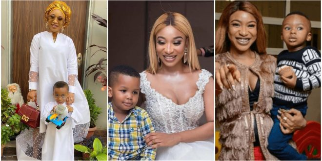 """""""Am Called A Mother Because Of You, Thank You, My Son"""" - Tonto Dikeh On Mother's Day 1"""