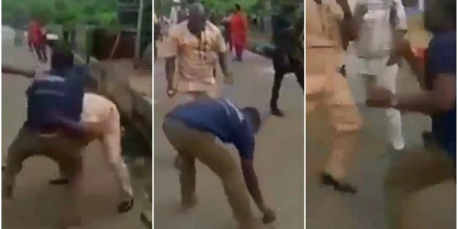 Two Grown Men Brutally Fight Over  A Woman - Video 1
