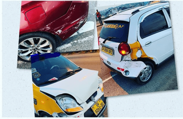 Actor Prince David Osei Survives A Very Fatal Accident - Photos 2