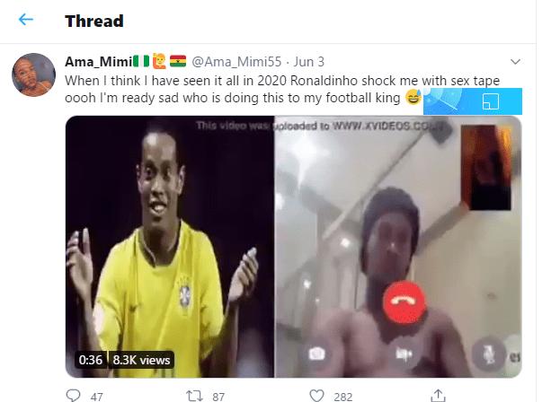 OMG! Hot 'Atopa' Tape Of Ronaldinho Leaks - Watch 2