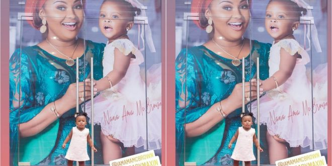 Baby Maxin makes her first appearance on a billboard 1