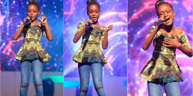 Stonebwoy's Daughter, Stonegirl Wins The 3rd Runner Up Of Talented Kids - Photos+Video 1