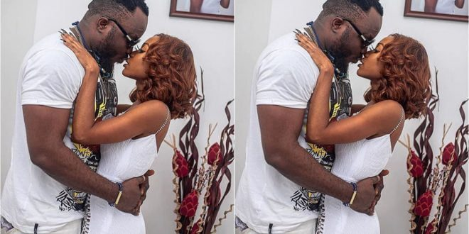 Watch The Moment DKB Kissed Akuapem Poloo At Her Birthday Party - Video+Photos 1