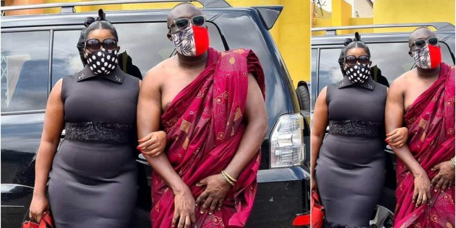 Dada Boat and Gloria sarfo spotted together at Bishop Bernard Nyarko's funeral (photo) 1