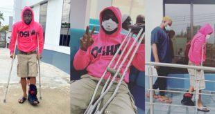 """""""He Wants Attention"""" - Nigerians React To Davido's Leg In Crutches (Screenshots) 12"""