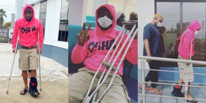 Davido Breaks His Legs: Results To Crutches - Photos 1